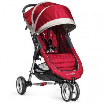 Baby Jogger City Mini Single / красно-серый